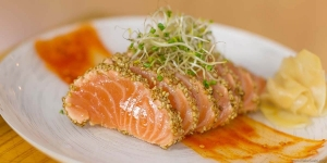 Salmon is rich in vitamin and protein